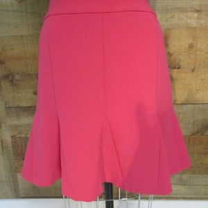 Banana Republic Pink Flare A Line Skirt 12